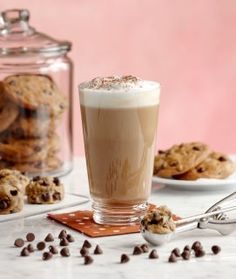 Cookie Dough Latte | Recipe | Torani Add milk and syrup to microwaveable container, with a lid. Shake vigorously to create a foamy mixture. Remove lid and microwave on for 30 sec. Pour mixture in a cup with expresso. - Delicious.