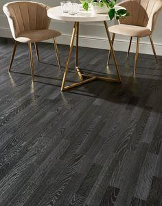 Imperia - Phantom Oak | Flooring Superstore Direct Wood Flooring, Flooring Cost, Vinyl Tile Flooring, Wooden Flooring, Oak Flooring, Kitchen Flooring, Black Wooden Floor, Black Floor, Black Hardwood Floors