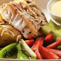 Filete de Pescado a la Plancha con salsa de Coco, Saludables recetas de cocina; www.larecetadecocina.com