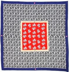 MUSLIN CLOTH 220X220 ARABESQUE RED