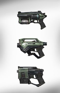UT4 Visual Style Development - Unreal Tournament Forums Anime Weapons, Sci Fi Weapons, Fantasy Weapons, Weapons Guns, Robot Concept Art, Game Concept Art, Weapon Concept Art, Arsenal, Rifles