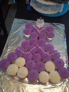Homemade sofia the first dress cupcake cake!