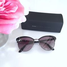 ⋆Marc by Marc Jacobs⋆ 55mm Retro Sunglasses ⋆Marc by Marc Jacobs ⋆ 55mm Retro Sunglasses  Color is Ruthenium (deep purple color). Work once. No scratches, in perfect condition. Comes with a case. Purchased from Nordstrom.   ❌ No trade ⭕️ Offers, Bundles, and Questions Welcome  Instagram: Missoh_J Marc by Marc Jacobs Accessories Sunglasses