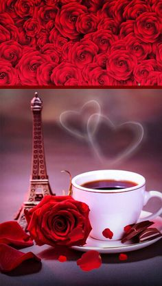 Embedded image Wallpaper For Your Phone, Love Wallpaper, Iphone Wallpaper, Coffee Love, Coffee Art, Coffee Shop Bar, Love Backgrounds, Coffee Images, 3d Rose