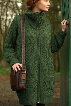 Hmmm.... maybe? Instead of Uji? - Women Irish Sweater with pockets ...