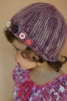 Woolly Wormhead - Damsel - knitting pattern for childs cloche Hat.