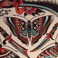 Filip Henningsson as featured on www.swallowsndaggers.com #tattoo #tattoos #flash