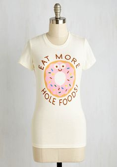 Carb Act to Follow Tee. Its tough to beat a graphic tee thats this sweet! #white #modcloth