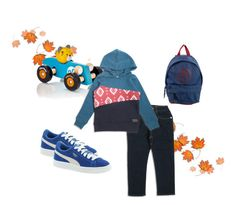 """""""Fall Boys Outfit"""" by bitzkidsnyc ❤ liked on Polyvore featuring PlanToys, Puma and Little Marc Jacobs"""