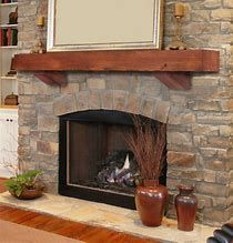 Image result for wood beam mantel orlando Fireplace Beam, Rustic Fireplace Mantels, Fireplace Surrounds, Mantel Surround, Mantel Shelf, Wood Beams, Red Oak, Classy, Make It Yourself