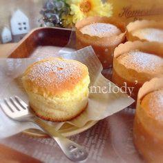 コスパ最強!スライスチーズで作る絶品スフレチーズケーキ♡ in 2020 Sweets Recipes, Cake Recipes, Mini Cakes, Cupcake Cakes, Delicious Desserts, Yummy Food, Sweets Cake, Baking And Pastry, Cafe Food