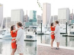 Inner Harbor Engagement photo--Perfect since it looks as if I'll never get out of school so I'll never leave Bmore! lol