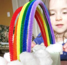 Enchanted Pipe Cleaner Rainbow | Build an Enchanted Pipe Cleaner Rainbow that allows children to review colors and refine their fine motor skills.