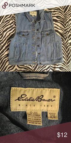 Eddie Bauer denim vest M Stylish women's denim vest made by Eddie Bauer. Excellent condition! Eddie Bauer Jackets & Coats Vests
