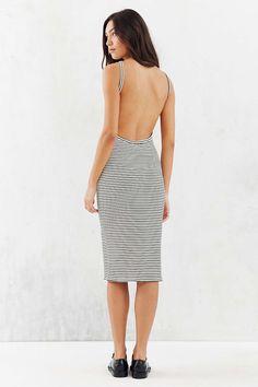 Silence   Noise Harness Strap Open Back Dress