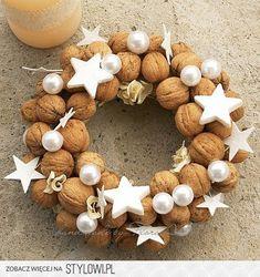 Christmas Wreath with Walnuts