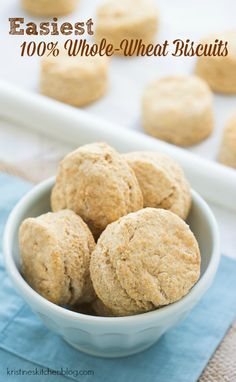 These Easiest 100% Whole-Wheat Biscuits have the delicious tang of buttermilk and a mild, nutty whole-wheat flavor without being heavy or dense. They are so easy to make with just six ingredients; you can have them on your table in no time!