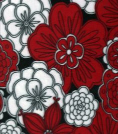 Pretty pattern - red, black, & white. Inspiration for a doodle.