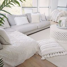 Wool Area Rugs, Wool Rugs, Tribal Patterns, White Rug, Muted Colors, Scandinavian Design, Wool Felt, Living Spaces, Pillows
