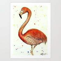 #flamingo #pink #salmon #watercolour #bird #society6 #art #buy #tshirt #iphonecase