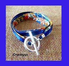 Bracelet liberty margaret annie bleu double tour : Bracelet par crocmyys