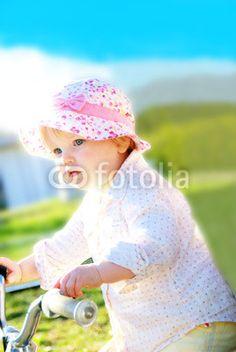 Cute little girl with her bike. I love her sooo much :-)