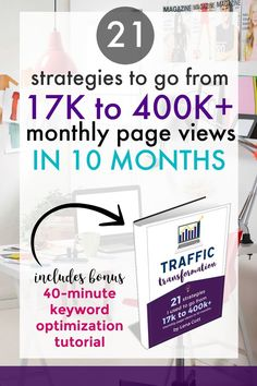 OMG this traffic transformation guide is awesome for bloggers. If your page views are crap, you need this guide!