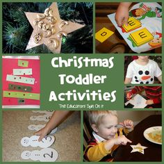 The Educators' Spin On It: Tot School - Holiday Learning Activities