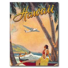 ヴィンテージのハワイ旅行イメージ