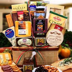 Gourmet Artisianal Meat and Cheese Collection Cheese Gift Baskets, Cheese Gifts, Gourmet Cheese,