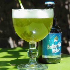 """Beer is save, right? If You'd be stranded in Germany, You could at least survive on good old German beer, brewed after age old German purity laws… Wait! What's that green gore in the glass?! Well, it's - beer. From the capital comes """"Berliner White One"""": beer with the flavor of woodruff. And there is more woodruff food stuff to be pinned here."""