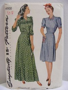 I remember all the patterns my mom had! Vintage Sewing Patterns, Clothing Patterns, Dress Patterns, 1940s Fashion, Vintage Fashion, Big Fashion, Vintage Dresses, Vintage Outfits, Expensive Clothes