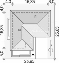 Projekt domu Neptun 7 | e-projekty.pl Car Garage, Bar Chart, House Plans, How To Plan, Houses, Bar Graphs, House Floor Plans, Carriage House, Home Plans