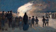 Peder Severin Krøyer - Midsummer Bonfire at Skagen 1894