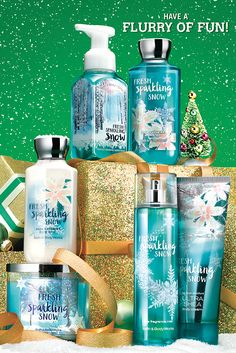 First frost meets fragrance fun . your home favorite Fresh Sparkling Snow is coming to body care this Christmas! Bath N Body Works, Bath And Body Works Perfume, Body Wash, Body Lotions, Tips Belleza, Body Spray, Smell Good, The Body Shop, Body Love