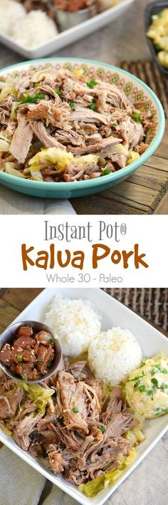 Now you can make this tender and juicy Instant Pot Kalua Pork with cabbage at home, no imu required | cookingwithcurls.com