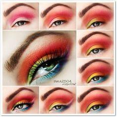 May Inspired Eye Makeup #makeup #beauty #howto #pictorial - bellashoot.com
