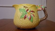 "VINTAGE CARLTON WARE ""YELLOW APPLE BLOSSOM"" CREAMER 5""W X 3.5""H FAST SHIPPING! #CarltonWare"