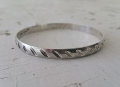 Vintage Sterling Silver 925 Mexico Mexican Bangle Bracelet 17.91 grams