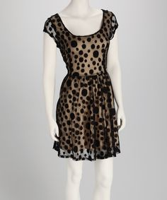 Take a look at this Black & White Polka Dot Dress on zulily today!