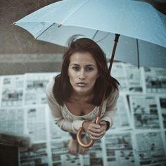 Girl with umbrella by Pavel Lepeshev, via 500px