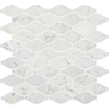 Dal tile. Carrera white marquise. For shower insert