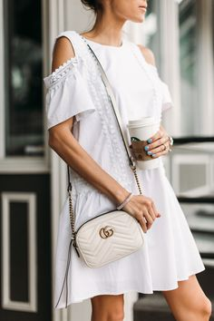 HelloFashionBlog: Spring's lightweight and versatile white dress