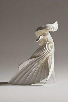 Ideas For Origami Paper Sculpture Beautiful Kirigami, Abstract Sculpture, Sculpture Art, Paper Sculptures, Surrealism Sculpture, Geometric Sculpture, 3d Paper, Paper Crafts, Origami Paper
