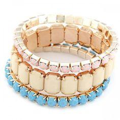 Exquisite Fashion Color Mixied Multilayer Bracelet