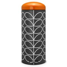 Brabantia 30 Litre Retro Pedal Bin by Orla Kiely - Charcoal Linear Stem - My Kitchen Accessories Orla Kiely, Buy Kitchen, Kitchen Paint, Kitchen Ideas, Home And Garden Store, Bin Bag, Plastic Buckets, Leaf Design, Kitchen Accessories