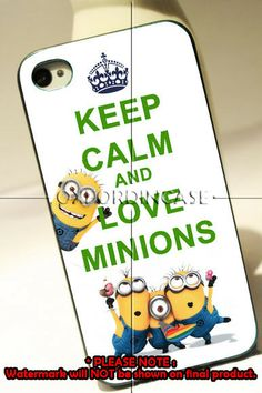 Keep Calm and Love Minions 4/4s/5/5c/5S,galaxy s3/s4 case – Slimot