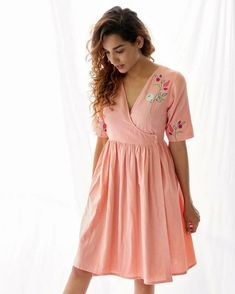 Wrap Around Dress, Wrap Dress, Nice Dresses, Casual Dresses, Summer Dresses, Dress Indian Style, Indian Outfits, Crop Top Designs, Western Dresses