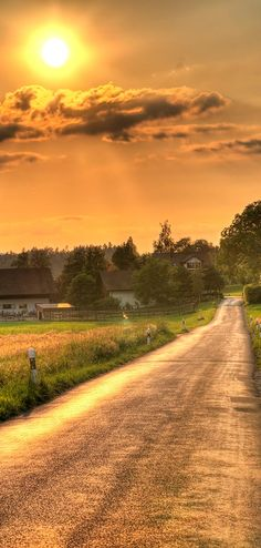 country road sunset... .