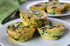 A keto spinach feta mini quiche that is baked in a muffin tin. These low carb crust-less quiches are a simple breakfast or snack recipe. Keto Quiche, Quiche Recipes, Quiche Crustless, Spinach Recipes, Mini Quiches, Spinach And Feta Muffins, Spinach Feta Quiche, Pan Dulce, Low Carb Vegetarian Recipes